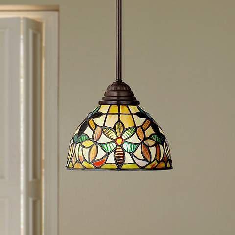 Quoizel Kami Tiffany Style Mini Pendant Light - #R9751   Lamps Plus