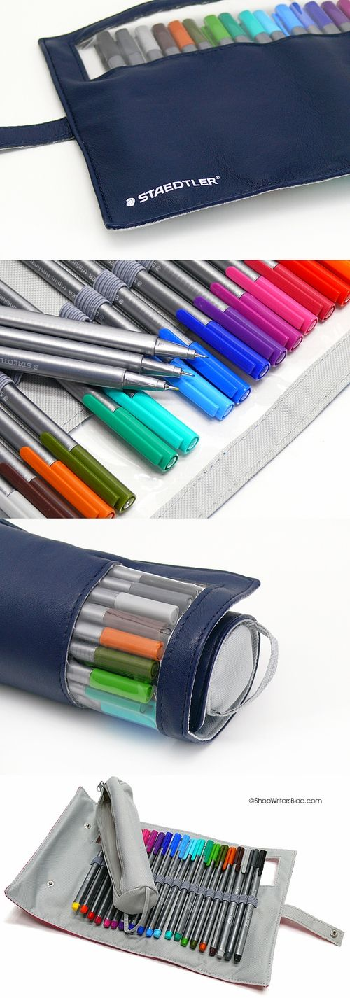 STAEDTLER triplus fineliner: set of 20 in navy wrap case