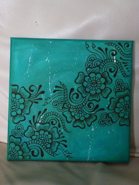 puffy paint henna on canvas - Google Search