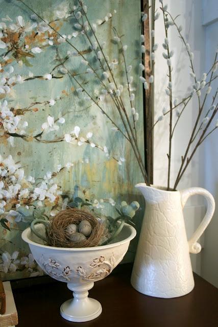 Spring Mantel Ideas {decorating mantel} via TipJunkie.com
