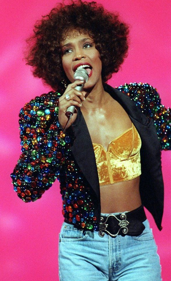 Whitney Houston and her incredible sparkly jacket