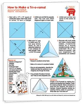 Create a Woodland Tri-o-Rama - Free Idea Sheet from Shapes Etc!