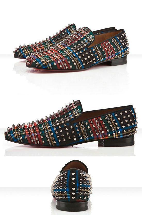 1e5be136bdd Christian Louboutin - The Rollerboy Spike Tartan | Fashion | Shoes ...