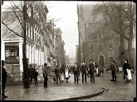 Amsterdam, Noordermarkt, 30 oktober 1896 foto: Jacob Olie