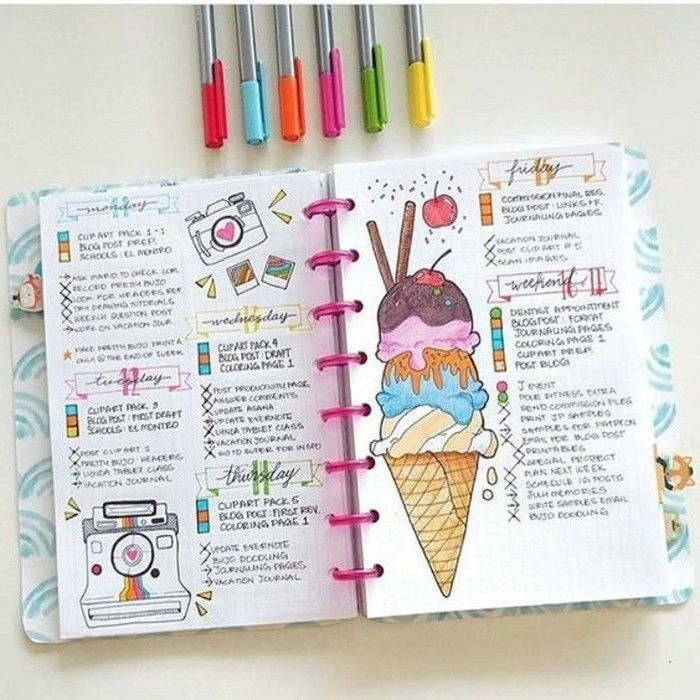 How to organize and customize your agenda – 62 DIY ideas