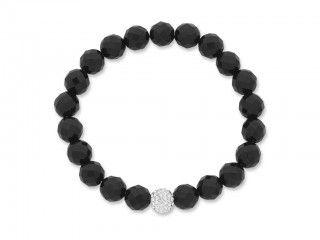 Sterling Silver Beaded Bracelet. Sku: SB960031