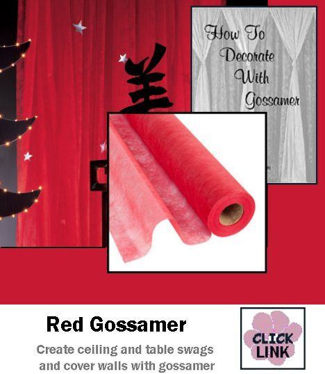 #Gossamer #Fabric for concealing walls, creating ceiling swags and more.