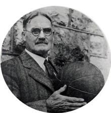 James Naismith, inventor of the game of basketball in 1891, He started Kansas University's basketball program 1898.