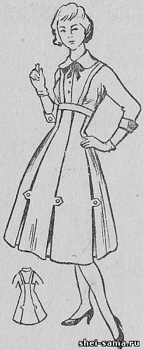 Юбка-сарафан и блузка с цельнокроенными рукавом и воротником - Учитесь шить и вязать  - Всё о шитье