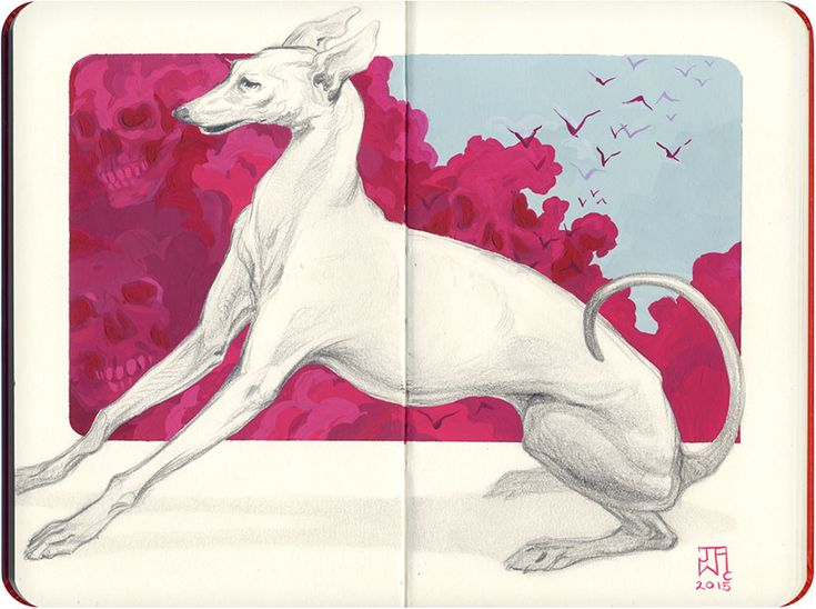 'Harbinger' by J.A.W. Cooper. Find out more about Cooper and see more of her awesome art in her interview at wowxwow.com (drawing, painting, figurative, animals, nature, symbolism, narrative, surreal, surrealism, sketch, sketchbook)