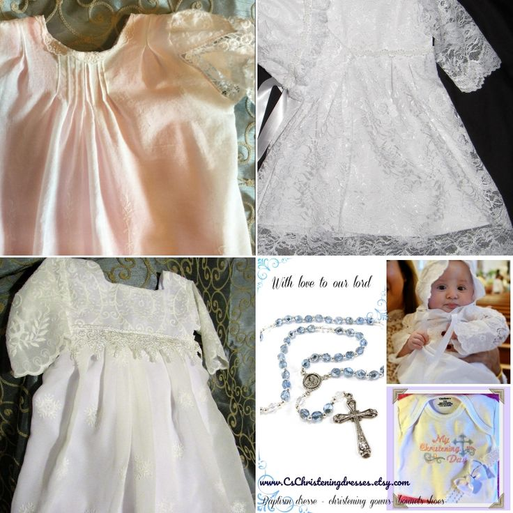 Christening or Baptism to show  God our love baby girl Christening dresses by www.cschristeningdresses.etsy.com  #christening #dress #baby #girl #lace #embroidery #bonnet #baptism #monograming #gown# handmade #