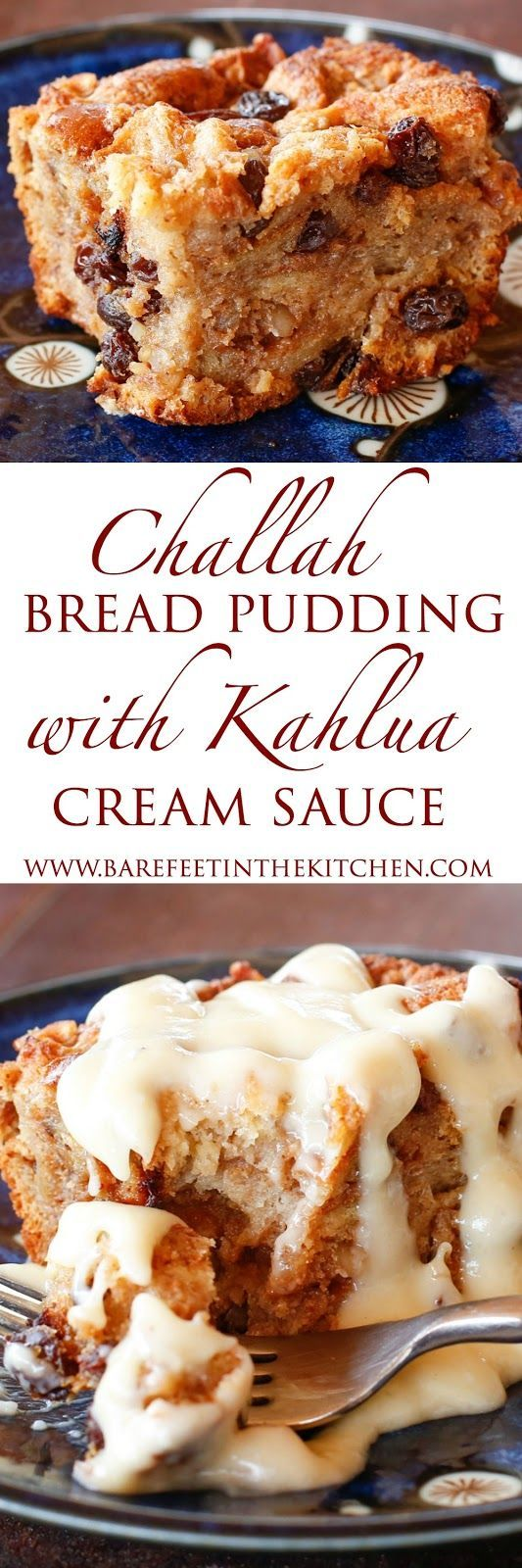 Challah Bread Pudding {a.k.a. the BEST bread pudding EVER} - get the recipe at barefeetinthekitchen.com