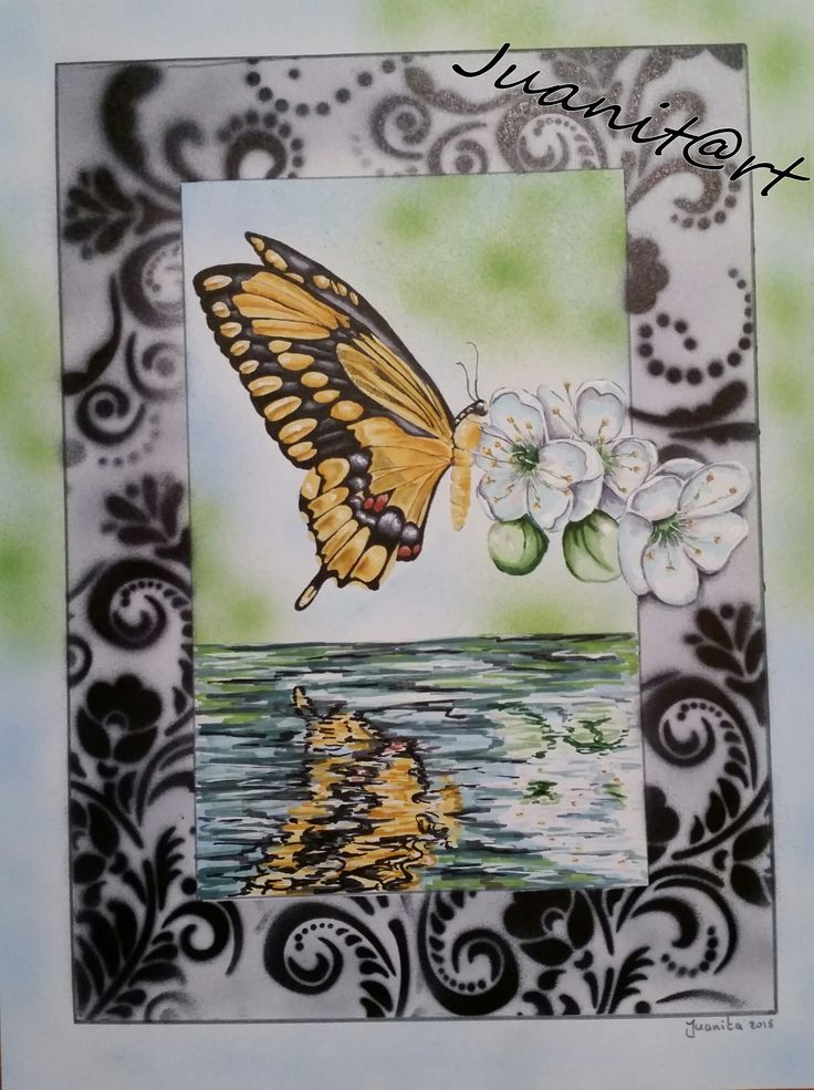 Copic butterfly