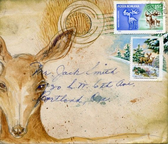 Deer Holiday postcard