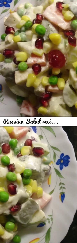Russian Salad recipe | Vegetarian Russian Salad... Tags: russian fruit salad, russian salad recipe sanjeev kapoor, russian salad recipe english, veg russian salad, russian salad wiki, russian salad sandwich, russian salad recipe in hindi, russian salad recipe in hindi