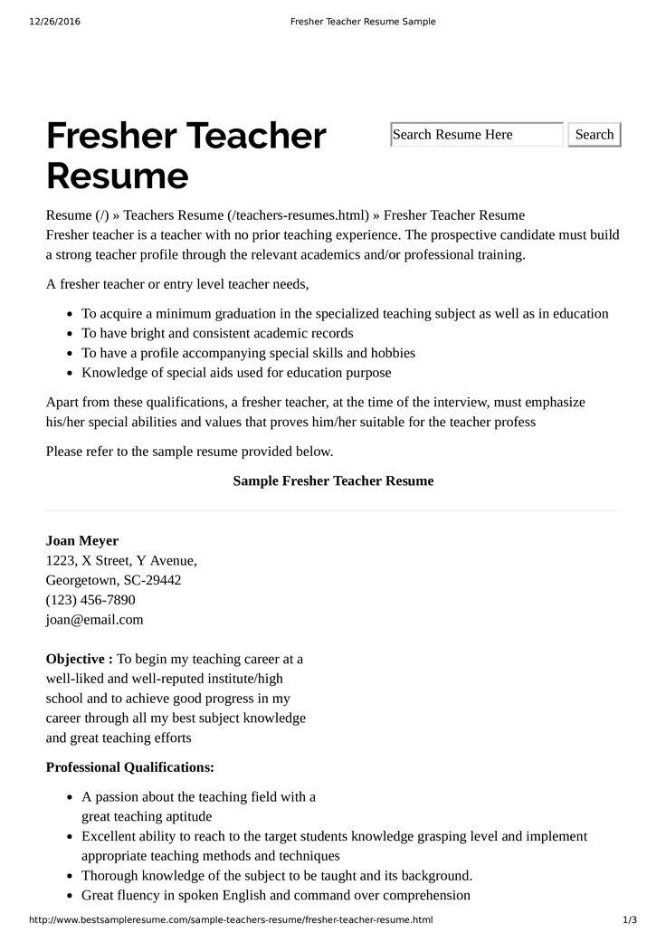 How to create a Preschool Teacher Resume for a teacher