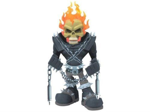 """Marvel SubCasts: Ghost Rider 10 1/2-Inch Vinyl Figure by Upper Deck. $289.99. SubCasts, a new Marvel licensed limited edition figure line only from Upper Deck Authenticated. Made of heavy polyresin, this large 10.5"""" figure of the Marvel character known as Ghost Rider has been reinterpreted by Miq Willmott, blurring the line between designer toys and traditional comic character statues. The Rider's head is cast in clear polyresin, making the flames even more realisti..."""