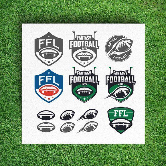 Fantasy football league logos by 1baranov on @creativemarket