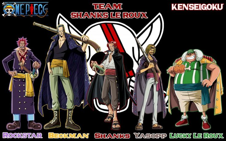 Shanks' Crew   One Piece   Pinterest  One