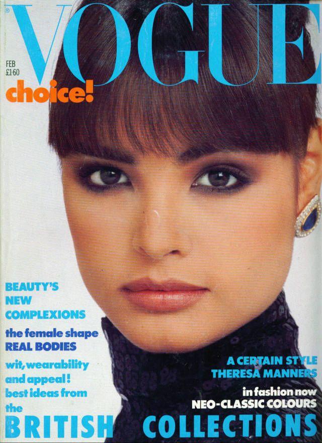 Talisa Soto - Vogue UK Feb 1986