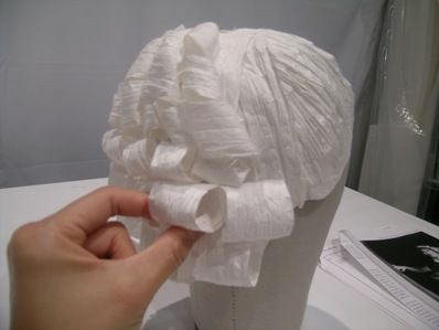TUTORIAL! Fashioning Fashion's Paper Wigs: How'd We Do It?
