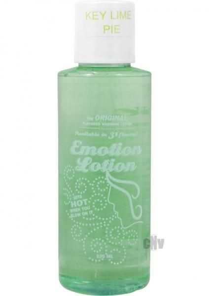 Emotion Lotion Key Lime Pie Warming Lotion Gets Warm When You Rub It Gets Hot When You Blow On It Water Based Latex Condom Compatibl Massage Oils