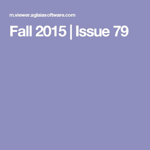 Fall 2015 | Issue 79