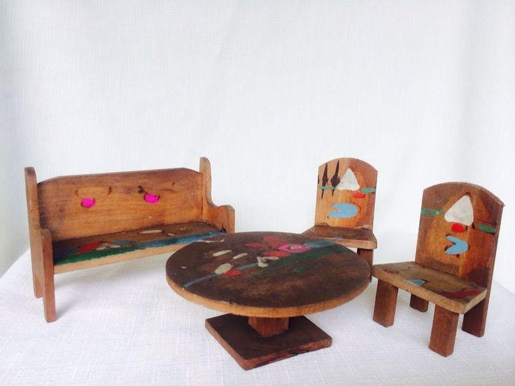 Antique 1920u0027s Set Of Dolls House Furniture | EBay