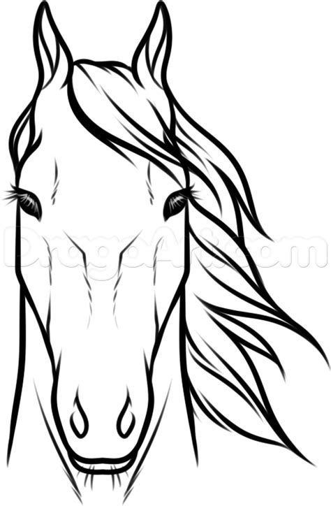 Easy How To Draw A Horse Head Step By Step Yahoo Image Search