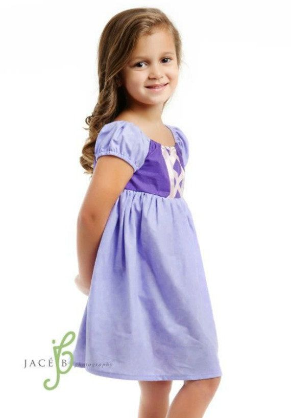 Rapunzel Tangle Dress Peasant Disney Inspired by ChameleonGirls, $50.00-  Make from simple peasant dress pattern!!!