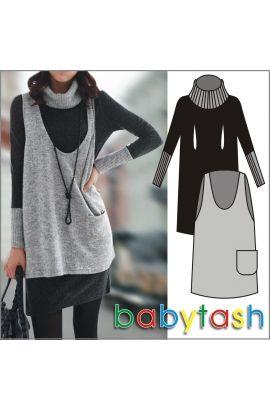 Платье для кормления Babytash Мегаполис серое