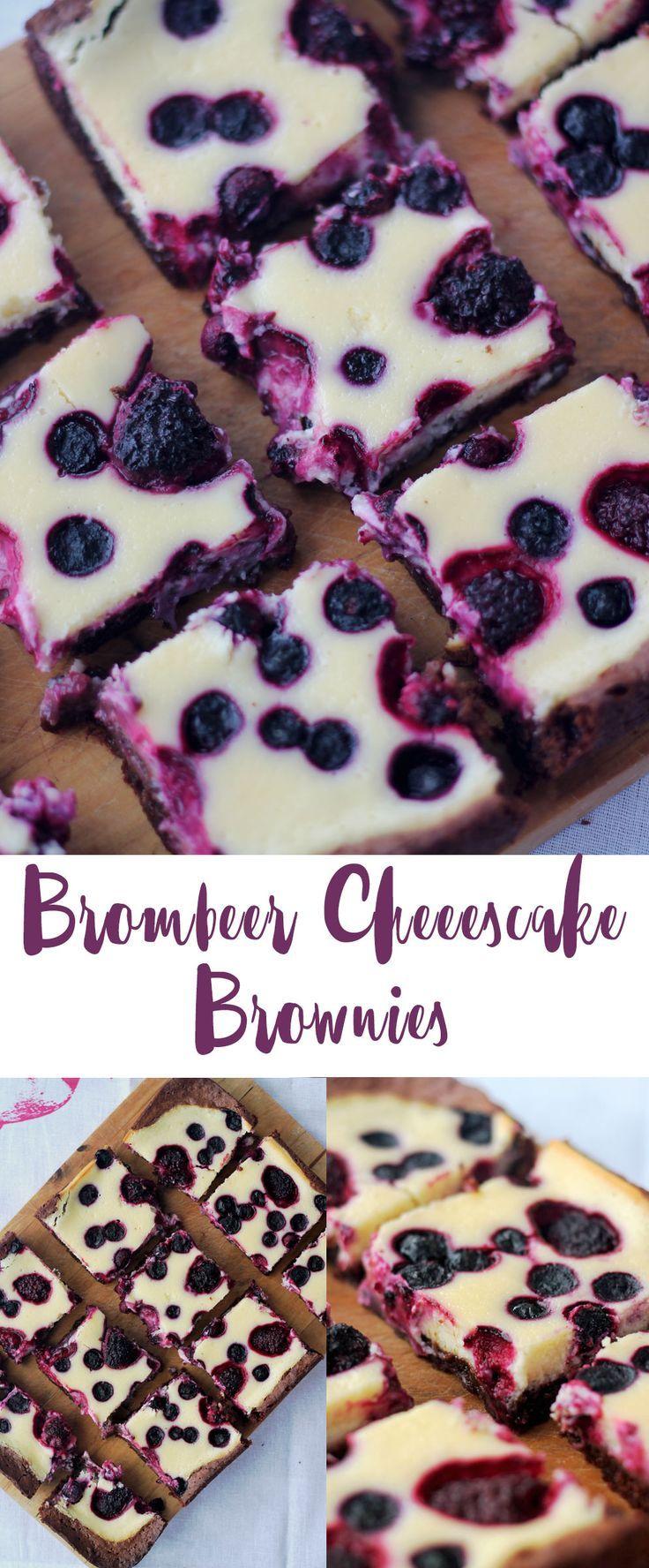 Brombeer Käsekuchen Brownies – Sonntagskuchen