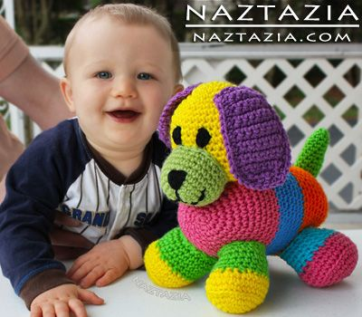 Crochet Patchwork Puppy - Toy Dog Amigurumi You can get a ...