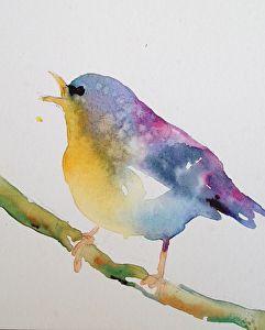 Squawking bird by Yvonne Joyner