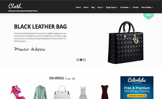 "If you are willing to host or already hosting a fashion or boutique website, give it an exceptional, eye-catchy, and elegant appearance with this featured rich WordPress theme. ""Cloth"" is the perfect theme in order to give your visitors an improved shopping experience."