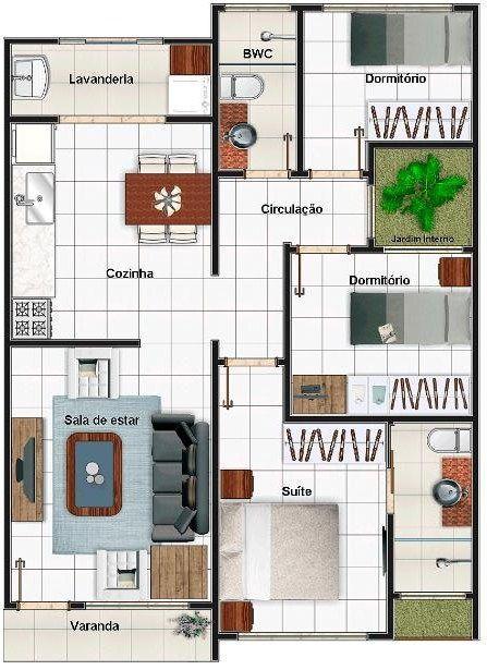 Plano de casa moderna de 70 m2                                                                                                                                                      Más