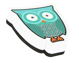 Go out on a limb this school year with owl-themed classroom decorations and organizational supplies. Choose from our collection of borders, notepads, charts, cutouts, awards, and a lot more! Teaching has never been such a hoot!  This owl-shaped whiteboard eraser features: •easy-to-grasp foam construction  •thick eraser pad •surprise magnetic function for easy storage!   Just stick onto your magnetic whiteboard, filing cabinet, or doorframe to ensure this must-have classroom accessory is…