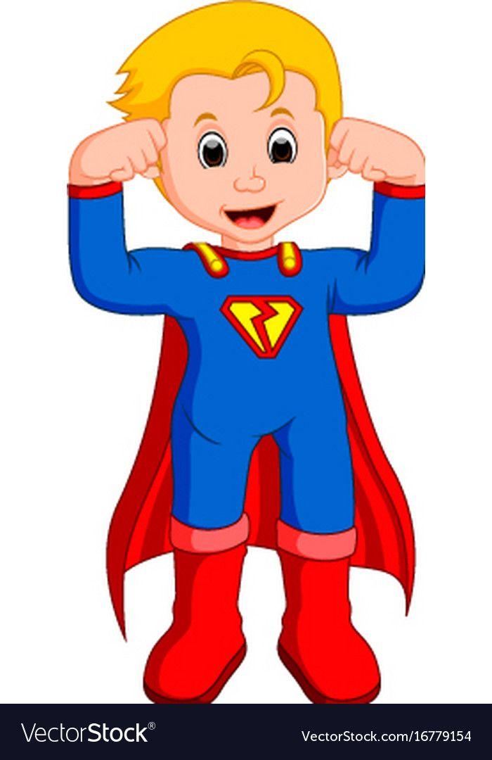 Superhero Kid Cartoon Vector Image On Kids Cartoon Characters