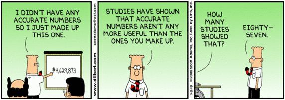 TheoryAp Statistics, Math Cartoons, Dilbert Cartoons, Dilbert Statistics, Funny, Accountable Humor, Comics, Accurate Numbers, Data Jokes