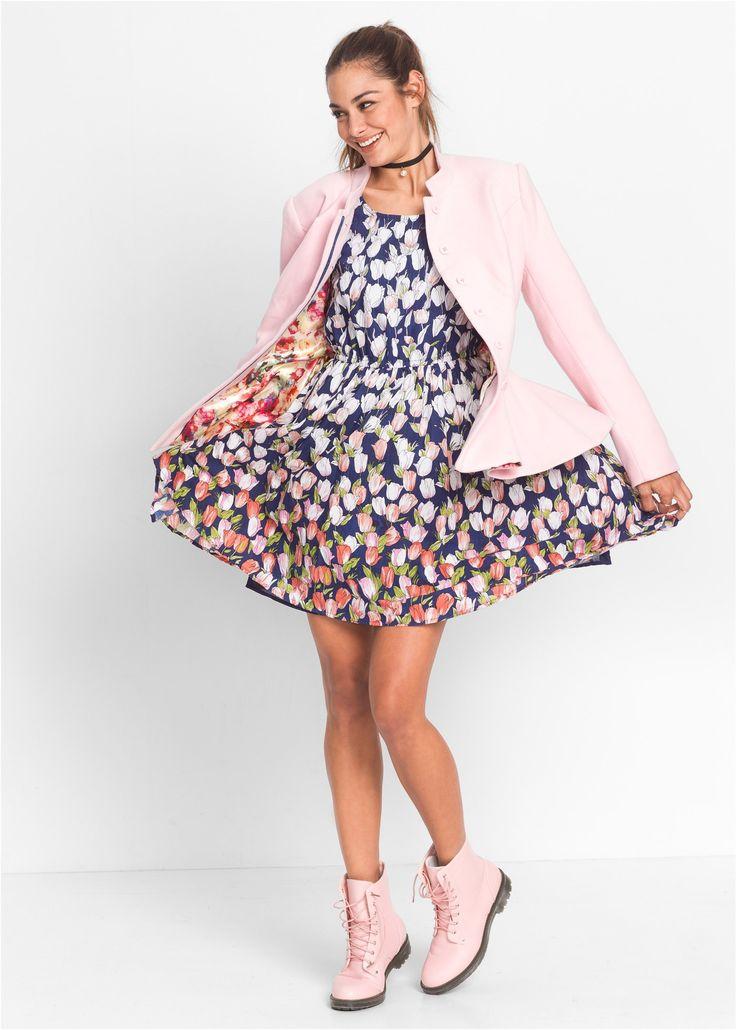 Kleid mit Blumenprint blau bedruckt - RAINBOW jetzt im Online Shop von bonprix.de ab ? 32,99 bestellen. Mit tiefem, rundem Ausschnitt und Rundumgummizug in ...