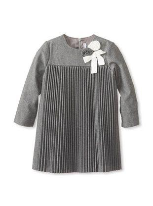 50% OFF Il Gufo Kid's Flocked Dress (Grey)