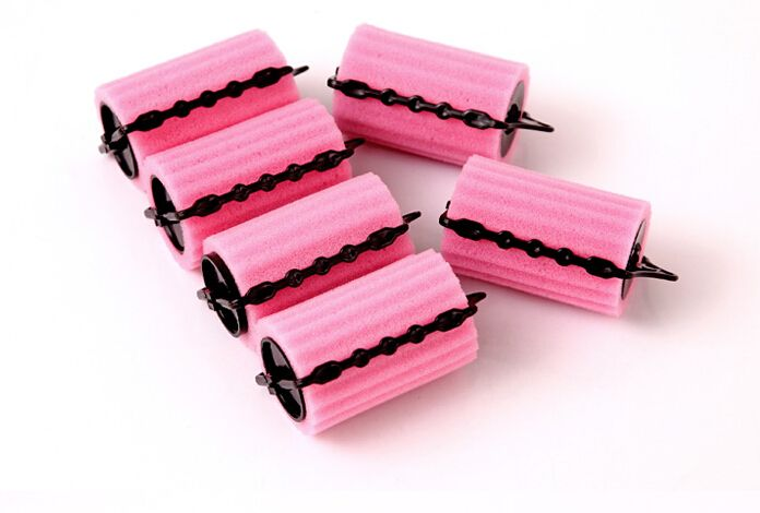 Hair roller large size roll bangs curls artifact double layer self-adhesive hair curlers tube hair foam Rollers