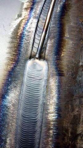 Weave on carbon steel