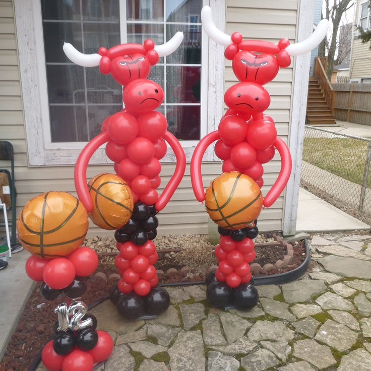 30 best images about basketball balloons on pinterest for Balloon decoration chicago