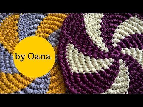 crochet 3D or herringbone stitch - YouTube