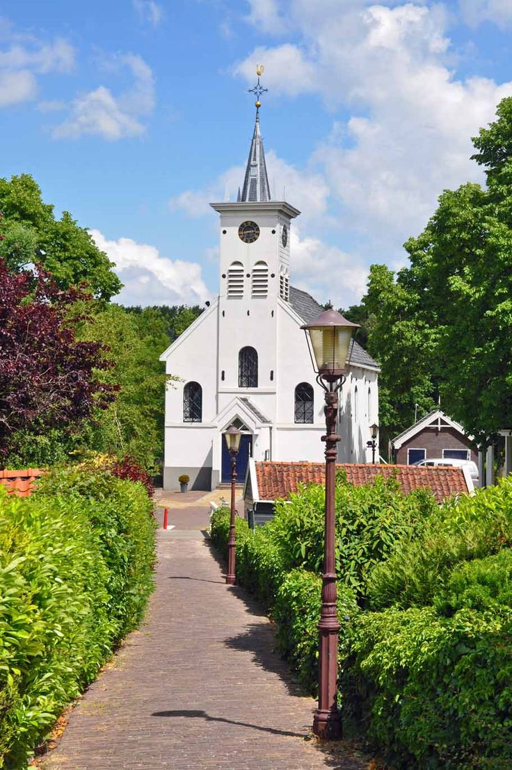 Witte kerk, Schellingwoude, Amsterdam, Noord-Holland.