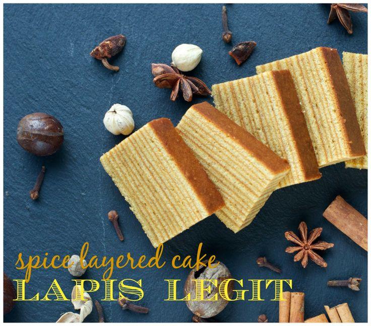 Indonesian Medan Food: Lapis Legit (Spiced Layered Cake)