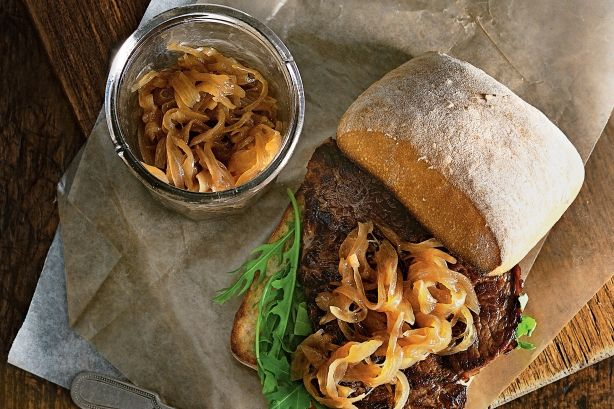 Sweet, caramelised onion relish is the perfect partner for burgers, steaks and hot dogs.