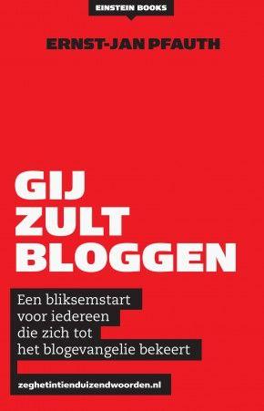 http://pfauth.com/gij-zult-bloggen/ Ernst-Jan Pfauth is medestichter en uitgever van De Correspondent en voormalig hoofdredacteur van The Next Web. Zijn hele carrière dankt hij aan bloggen. Als je het van iemand kunt leren....