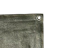 Shatex 90% Grey 8x10ft New Design Sun Shade Privacy Panel with Grommets -UV Resistant fabric for patio/pergola/RV awning -Free Bungee Ball Cords Included